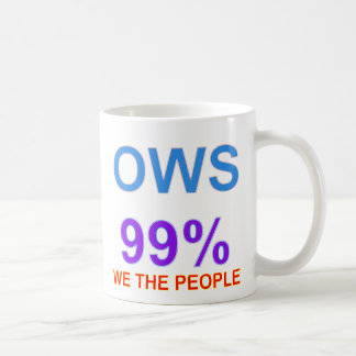 Occupy Wall Street 99% We the People Basic White Mug