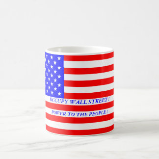OCCUPY WALL STREET POWER TO THE PEOPLE ! BASIC WHITE MUG