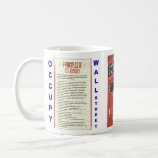 Occupy Wall Street Principles of Solidarity Basic White Mug