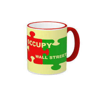 occupy wall street puzzle pieces ringer mug