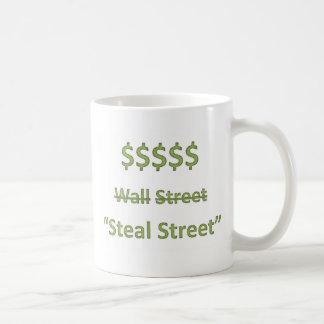 Occupy Wall Street Retro Basic White Mug