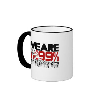 Occupy Wall Street - We are the 99% Ringer Mug