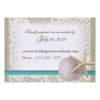 Ocean Romance Small Insert Card Pack Of Chubby Business Cards