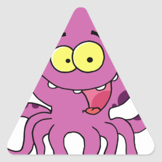 Octave the Octopus Triangle Sticker