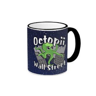 Octopii Wall Street - Occupy Wall St! Ringer Mug