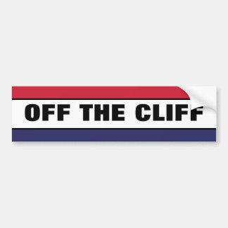 Off The Cliff Bumper Sticker