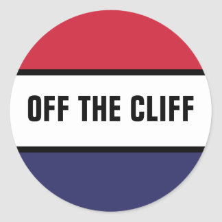 Off The Cliff Round Sticker