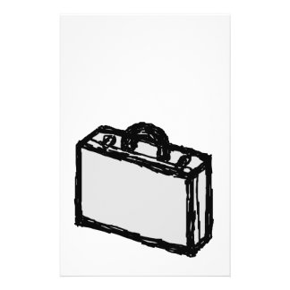Office Briefcase or Travellers Suitcase. Sketch. 14 Cm X 21.5 Cm Flyer