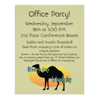 Office Party - Every Day is Hump Day 21.5 Cm X 28 Cm Flyer