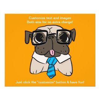 Office Pug 11.5 Cm X 14 Cm Flyer