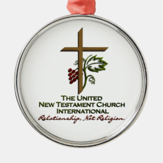 Official UNTCI Member Gear Silver-Colored Round Decoration