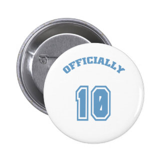 Officially 10 6 cm round badge