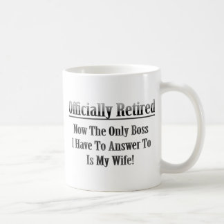 Officially Retired Basic White Mug