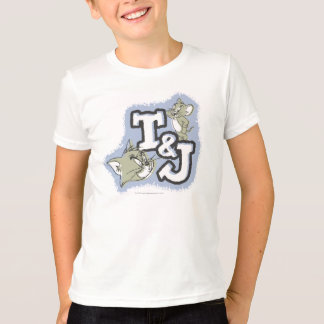 Offset Fill Tom And Jerry Initials Logo T-shirts