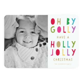 Oh by Golly | Holiday Photo Card 13 Cm X 18 Cm Invitation Card