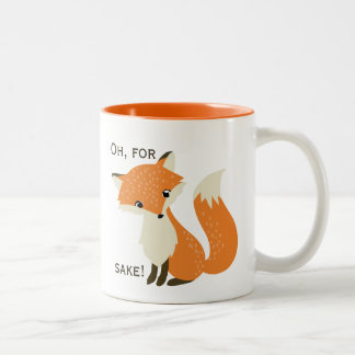 Oh, For Fox Sake Two-Tone Mug