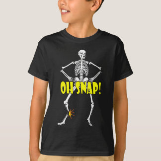 Oh Snap, Funny Skeleton Halloween Shirt