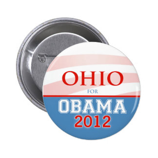 OHIO for Obama 2012 6 Cm Round Badge