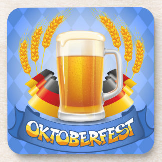 Oktoberfest Celebration Background With Coasters