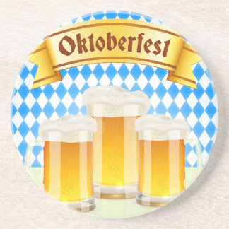 Oktoberfest Greeting Card With Beer Drink Coasters