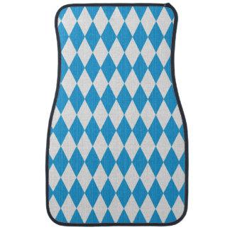 Oktoberfest pattern with fabric texture floor mat
