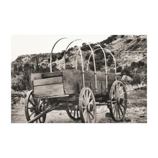 Old cover wagon canvas print