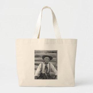 Old cowboy jumbo tote bag