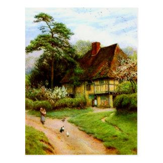 Old English Country Cottage Postcards