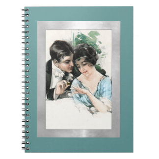 Old Fashioned Engagement Spiral Notebook