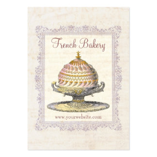 Old Fashioned French Bakery Vintage Pack Of Chubby Business Cards