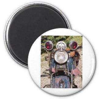 old Indian Harley-Davidson Police Motorcycle 6 Cm Round Magnet