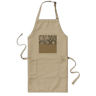 Old Lace and Linen Antique Wedding Long Apron