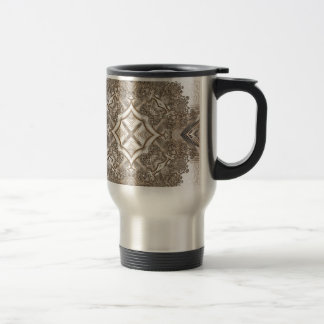 Old Lace Fractal 17 Stainless Steel Travel Mug