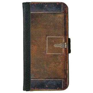 Old Leather Book Cover iPhone 6 Wallet Case