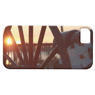 Old Military Cannon Wheel Sunset Photo iPhone 5 Cover