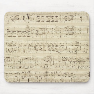 Old Music Notes - Chopin Music Sheet Mouse Pad