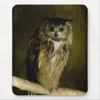 Old Owl of Wisdom Mouse Pad