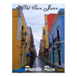 Old San Juan Puerto Rico Postcard Colourful Houses