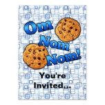 Om Nom Nom, Meme Love Cookies 13 Cm X 18 Cm Invitation Card