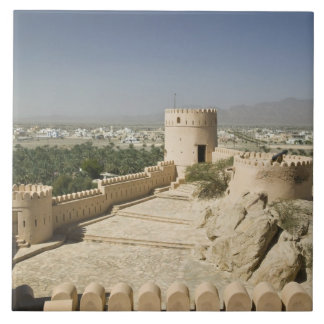 Oman, The Batinah Plain, Nakhal. Nakhal Fort, at Large Square Tile