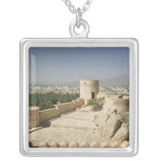 Oman, The Batinah Plain, Nakhal. Nakhal Fort, at Square Pendant Necklace