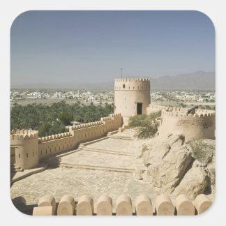 Oman, The Batinah Plain, Nakhal. Nakhal Fort, at Square Sticker