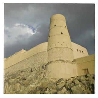 Oman, Western Hajar Mountains, Bahla. Bahla Fort Large Square Tile
