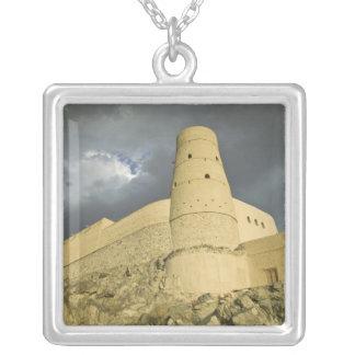 Oman, Western Hajar Mountains, Bahla. Bahla Fort Square Pendant Necklace