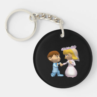 On Bended Knee Double-Sided Round Acrylic Key Ring