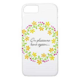 On pleasure bent again - Austen Pride & Prejudice iPhone 7 Case