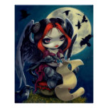 Once Upon a Midnight Dreary ART PRINT gothic fairy