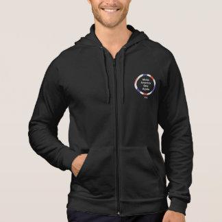 One America Men's Am Apparel Fleece Zip Hoodie