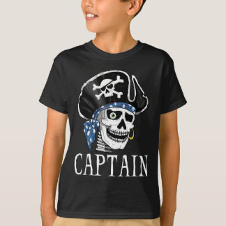 One-eyed Pirate Captain T-shirts