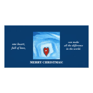 ONE HEART/CHRISTMAS PICTURE CARD